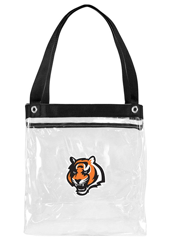 Cincinnati Bengals White Stadium Approved 12 x 12 x 6 Clear Bag - Image 2