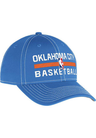 Adidas Oklahoma City Thunder Mens Grey Authentic Practice Adjustable Hat