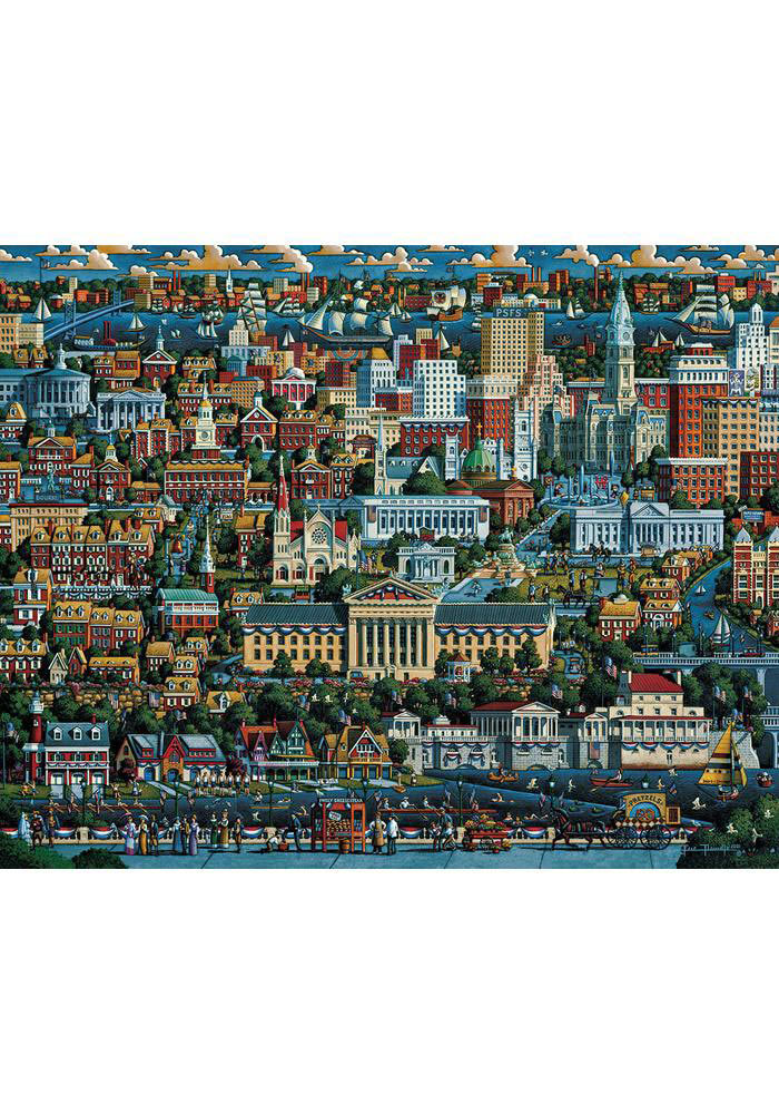 Philadelphia Full Color Philly City 500 Piece Puzzle - Image 1