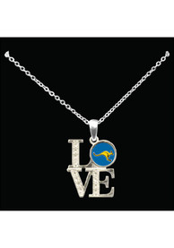 UMKC Roos Womens Love Necklace - Silver