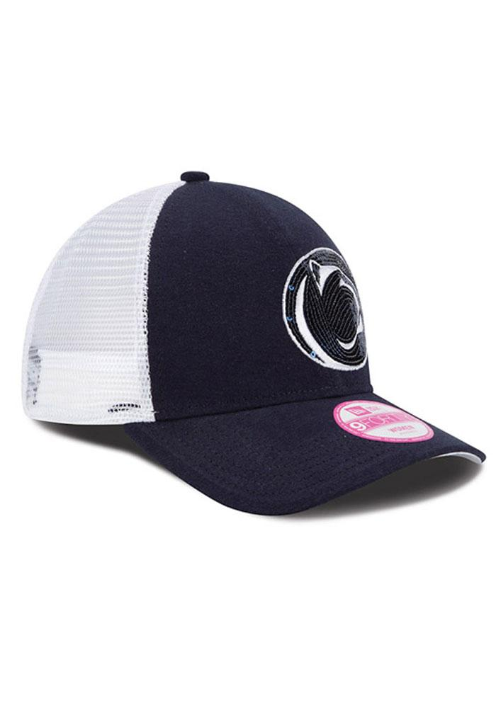 New Era Penn State Nittany Lions Navy Blue Sequin Shimmer Womens Adjustable Hat - Image 3