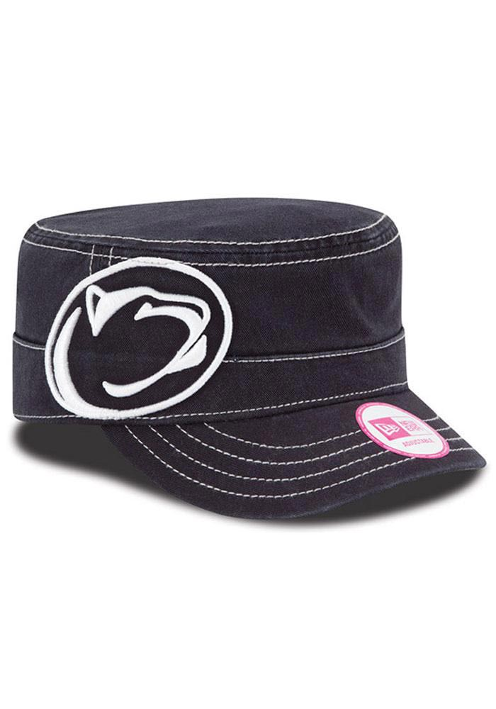 New Era Penn State Nittany Lions Navy Blue Chic Cadet Womens Adjustable Hat - Image 1