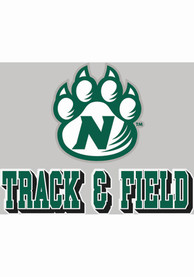 Northwest Missouri State Bearcats 4x5 Track + Field with Logo Auto Decal - Green