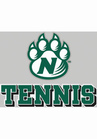 Northwest Missouri State Bearcats 4x5 Tennis with Logo Auto Decal - Green