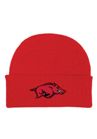 Arkansas Razorbacks Cuffed Newborn Knit Hat - Crimson