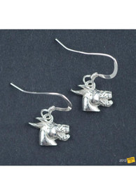 Central Missouri Mules Silver Dangle Womens Earrings