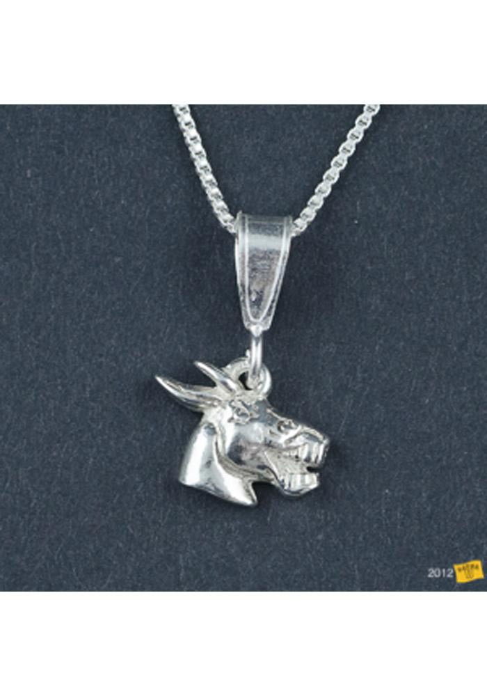 Central Missouri Mules Silver Charm Necklace - Image 1