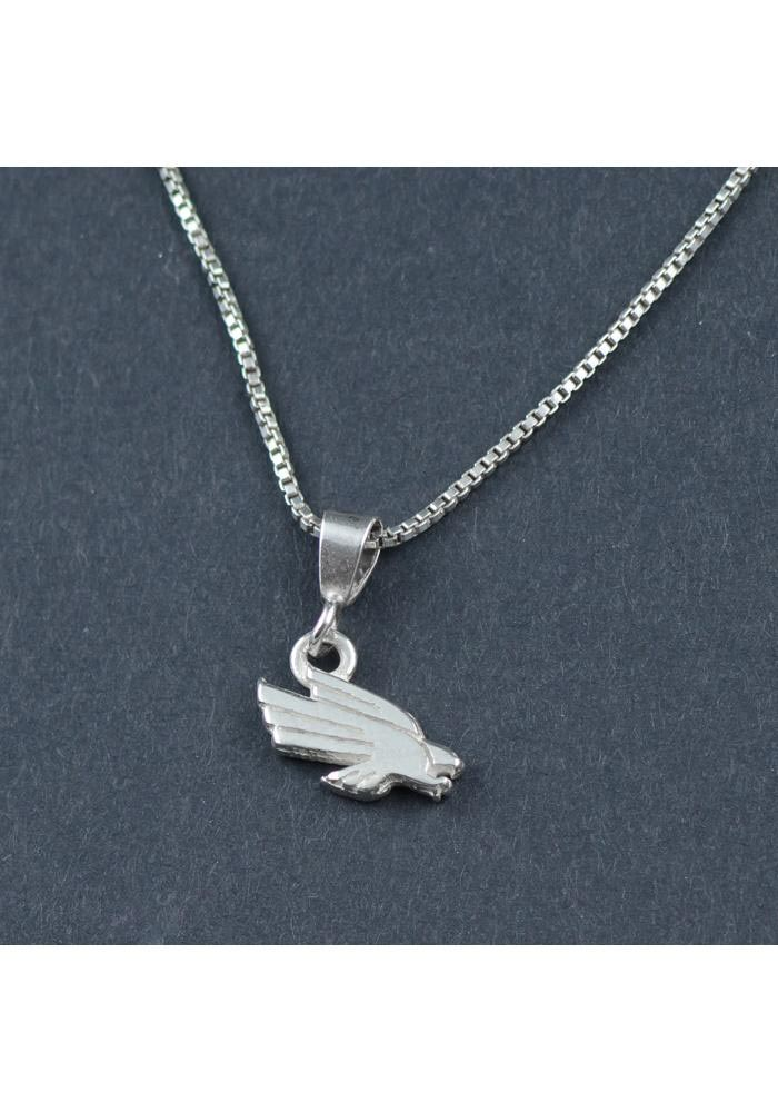 North Texas Mean Green Silver Charm Necklace - Image 1