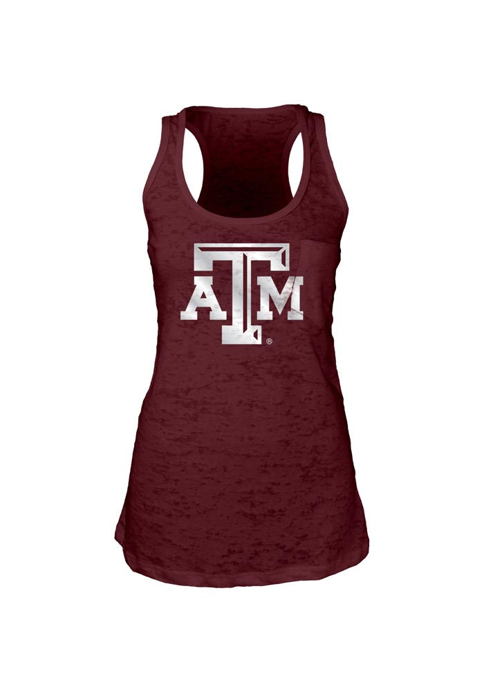 Texas A&M Aggies Juniors Maroon Icon Foil Tank Top - Image 1