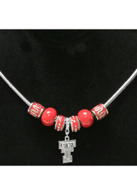 Texas Tech Red Raiders Womens Beaded Necklace - Silver