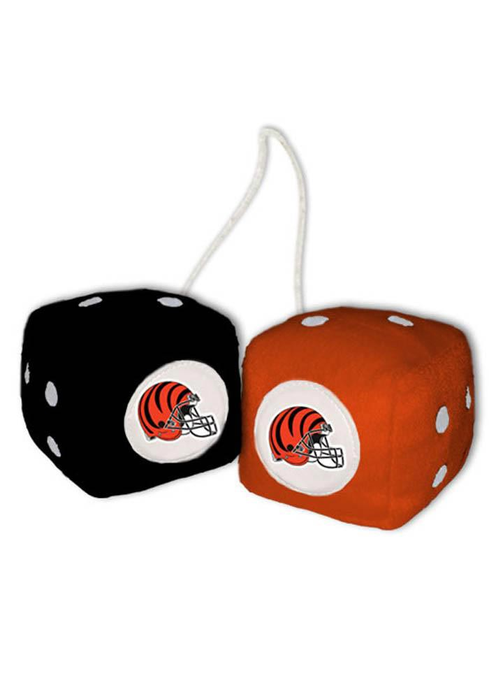Cincinnati Bengals Logo Fuzzy Dice - Orange - Image 1