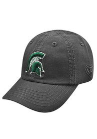 Michigan State Spartans Baby Top of the World Crew Adjustable Hat - Charcoal