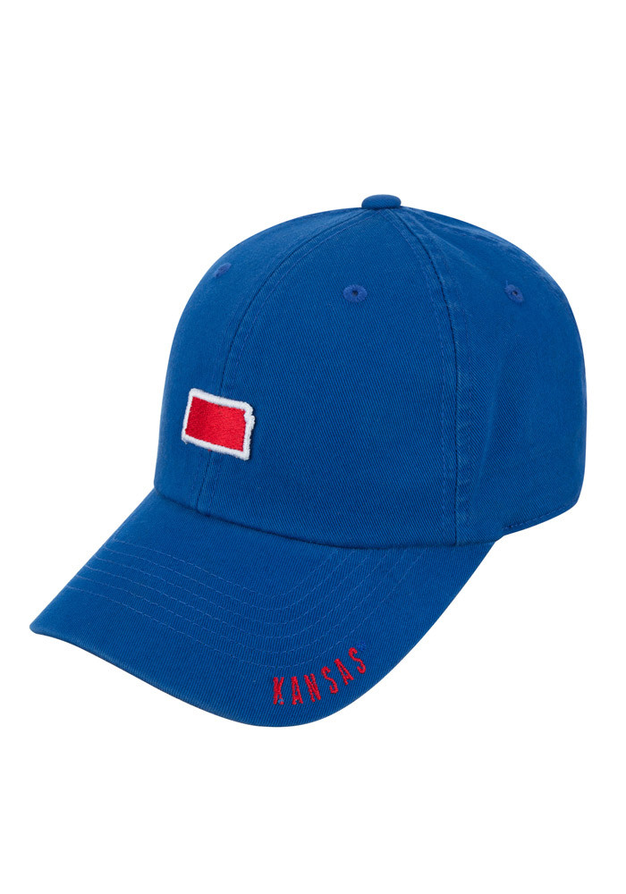 Top of the World Kansas Jayhawks Mens Blue S.O.M. Adjustable Hat - Image 1