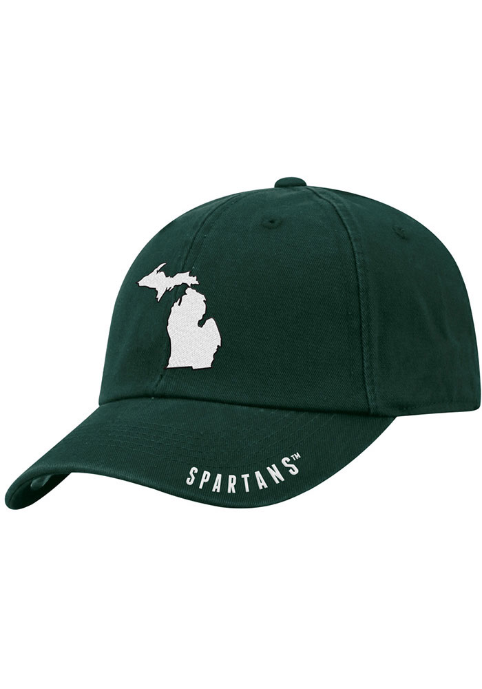 Michigan State Spartans Top of the World S.O.M. Adjustable Hat - Green