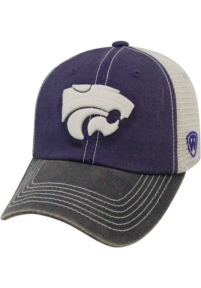 Top of the World K-State Wildcats Mens Purple Offroad Adjustable Hat - Image 1