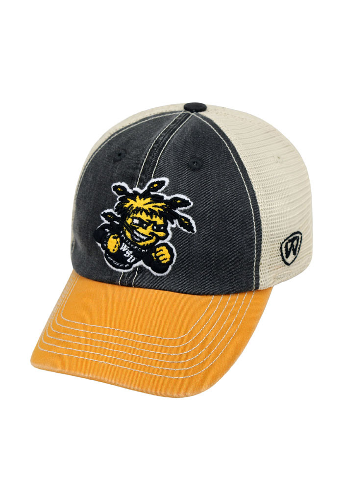 Top of the World Wichita State Shockers Mens Black Offroad Adjustable Hat - Image 1