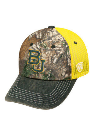Top of the World Baylor Bears Mens Green Dirty X Adjustable Hat