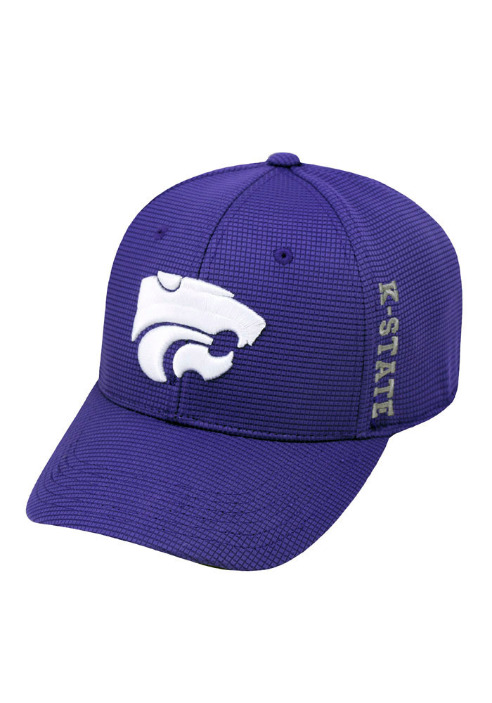 Top of the World K-State Wildcats Mens Purple Booster Plus Flex Hat - Image 1