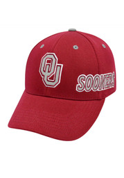 Top of the World Oklahoma Sooners Mens Red Shine On Flex Hat