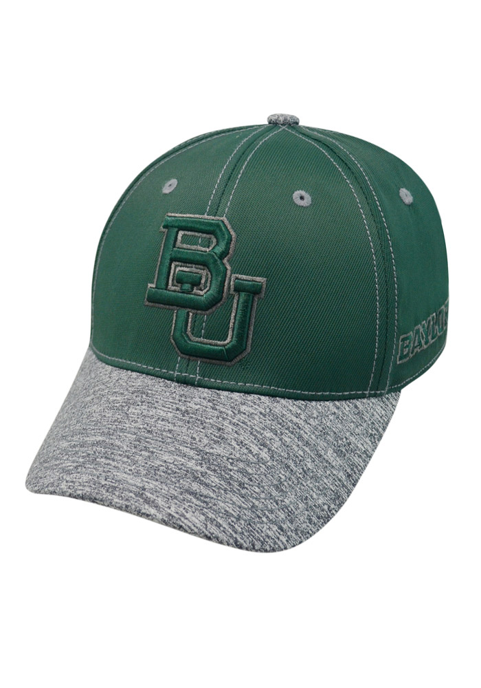 Top of the World Baylor Bears Mens Green Krossover Flex Hat - Image 1