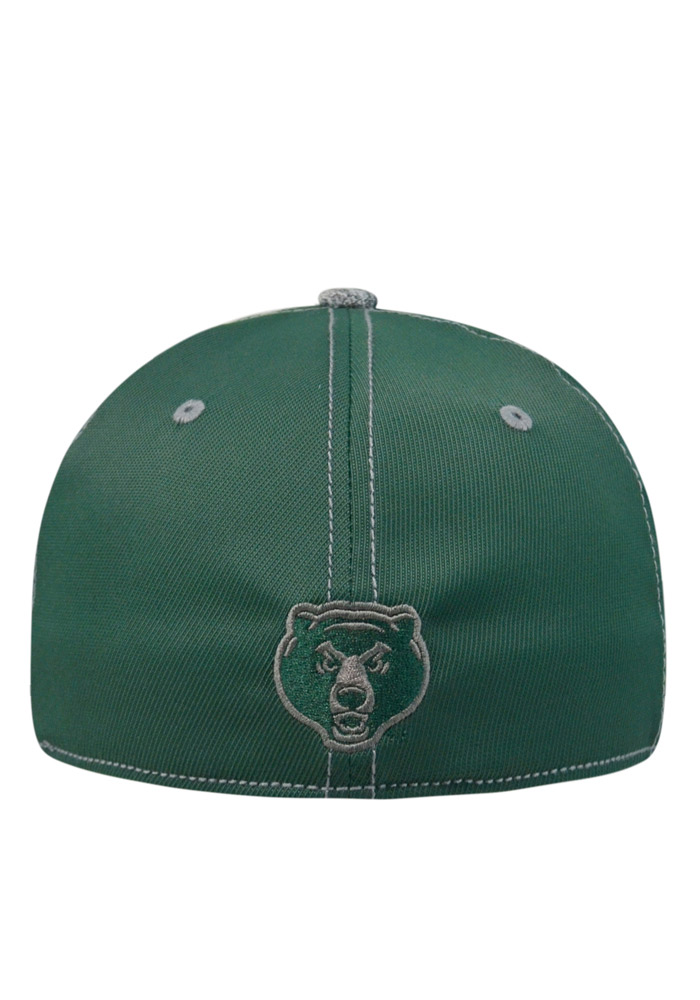 Top of the World Baylor Bears Mens Green Krossover Flex Hat - Image 2