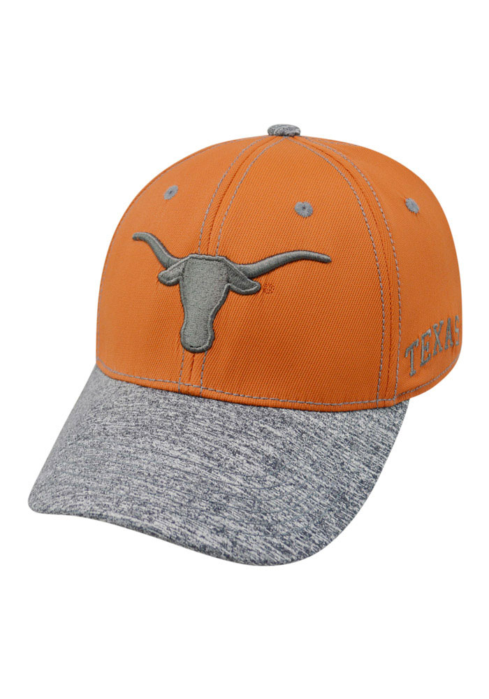 Top of the World Texas Longhorns Mens Orange Krossover Flex Hat - Image 1