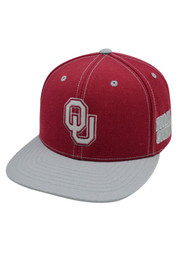 Top of the World OU Sooners crimson/black Refelctor Snapback Hat