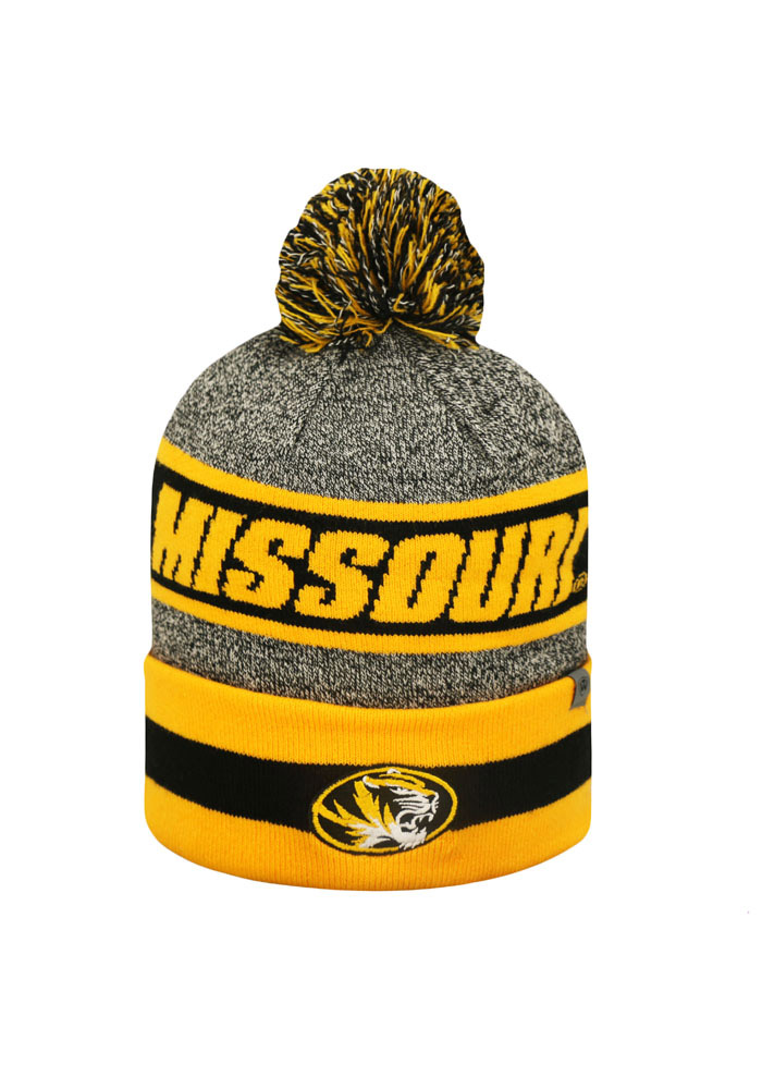 Top of the World Missouri Tigers Grey Cumulus Mens Knit Hat - Image 1