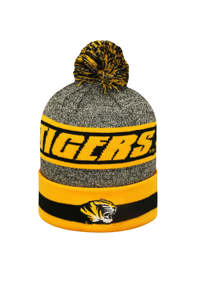 Top of the World Missouri Tigers Grey Cumulus Mens Knit Hat - Image 2