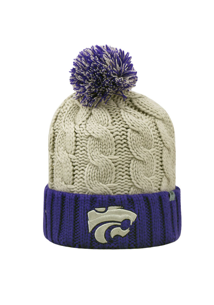 Top of the World K-State Wildcats Grey Gust Womens Knit Hat - Image 1