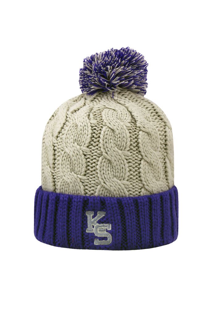 Top of the World K-State Wildcats Grey Gust Womens Knit Hat - Image 2