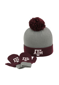 Texas A&M Aggies Baby Top of the World LilDew Mittens - Grey