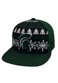 Michigan State Spartans Top of the World Big Logo Ugly Sweater Snapback - Green