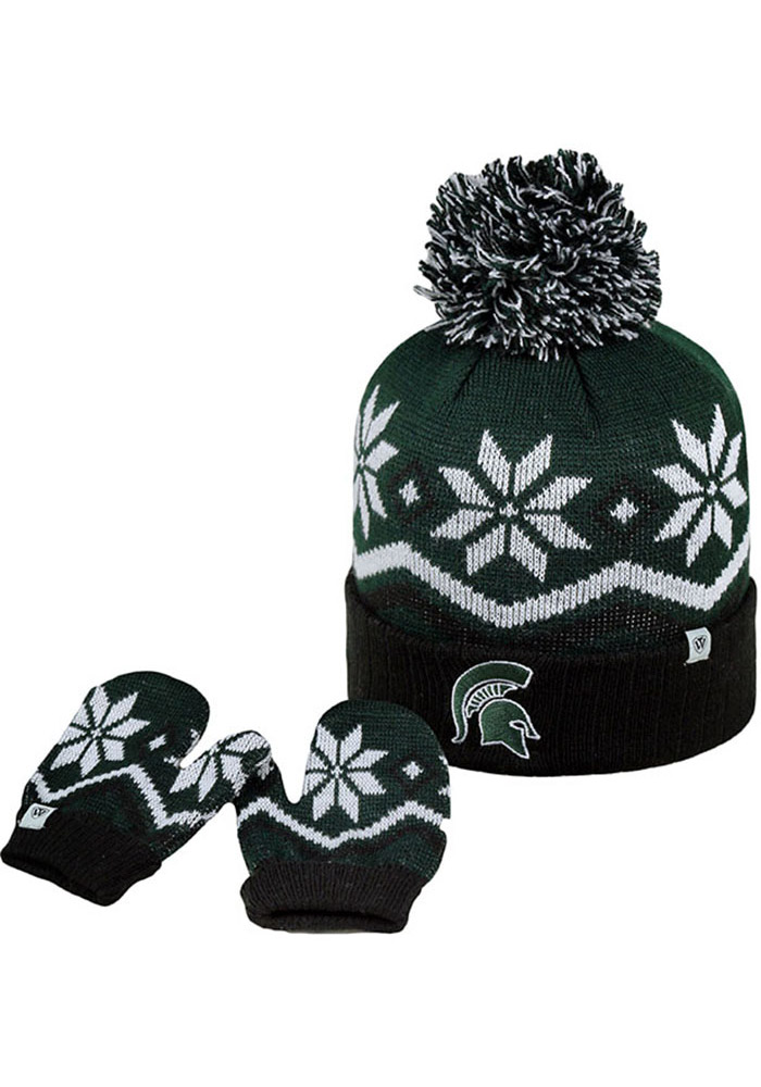 Top of the World Michigan State Spartans Lil Frost Baby Mittens - Image 1