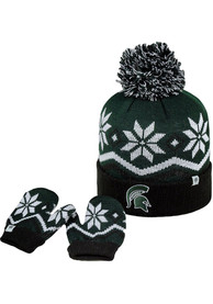 Michigan State Spartans Baby Top of the World Lil Frost Mittens - Green