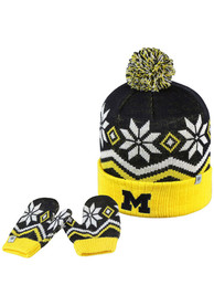 Michigan Wolverines Baby Top of the World Lil Frost Mittens - Navy Blue