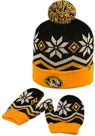 Missouri Tigers Baby Top of the World Lil Frost Mittens - Yellow