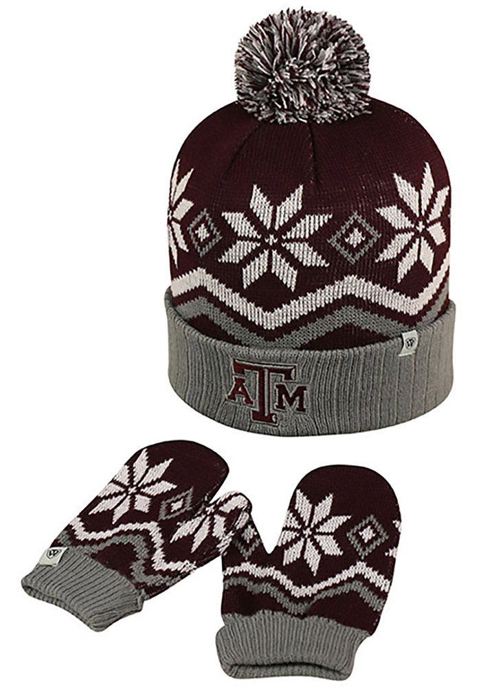 Top of the World Texas A&M Aggies Lil Frost Baby Mittens - Image 1