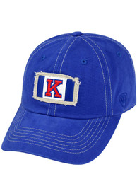 Kansas Jayhawks Top of the World Game Day Canvas Adjustable Hat - Blue