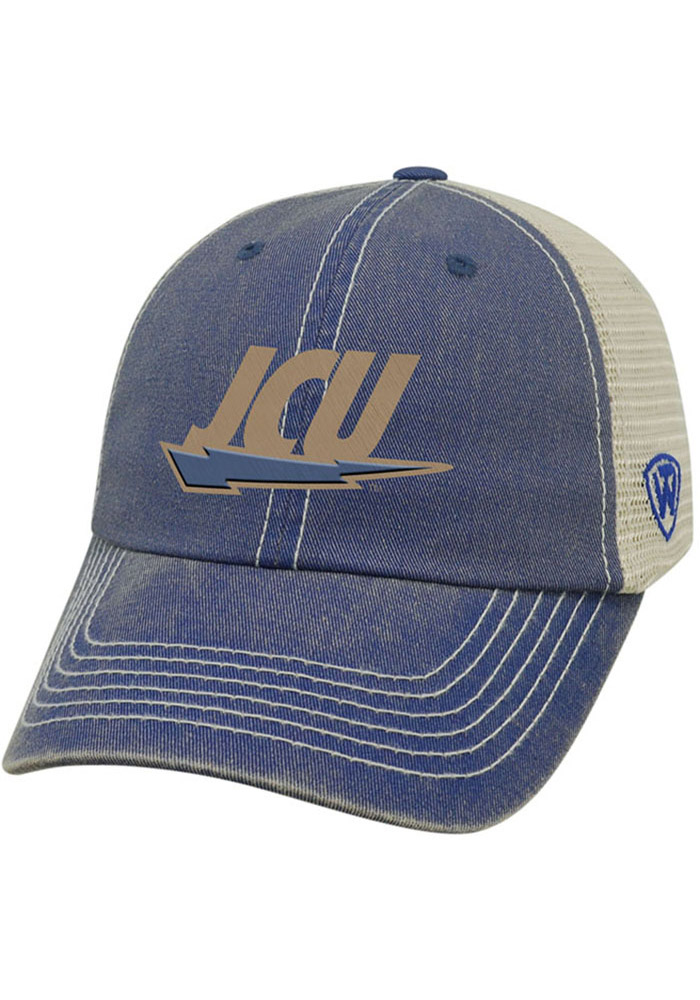 Top of the World John Carroll Blue Streaks Vintage Mesh Adjustable Hat - Navy Blue - Image 1