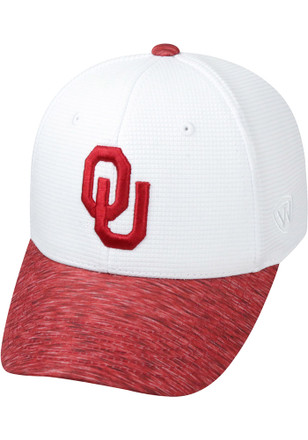 Top of the World Oklahoma Sooners Mens White Booster Lightspeed Flex Hat