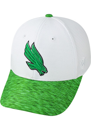 Top of the World North Texas Mean Green Mens White Booster Lightspeed Flex Hat
