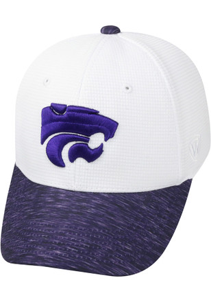 Top of the World K-State Wildcats Mens White Booster Plus Flex Hat
