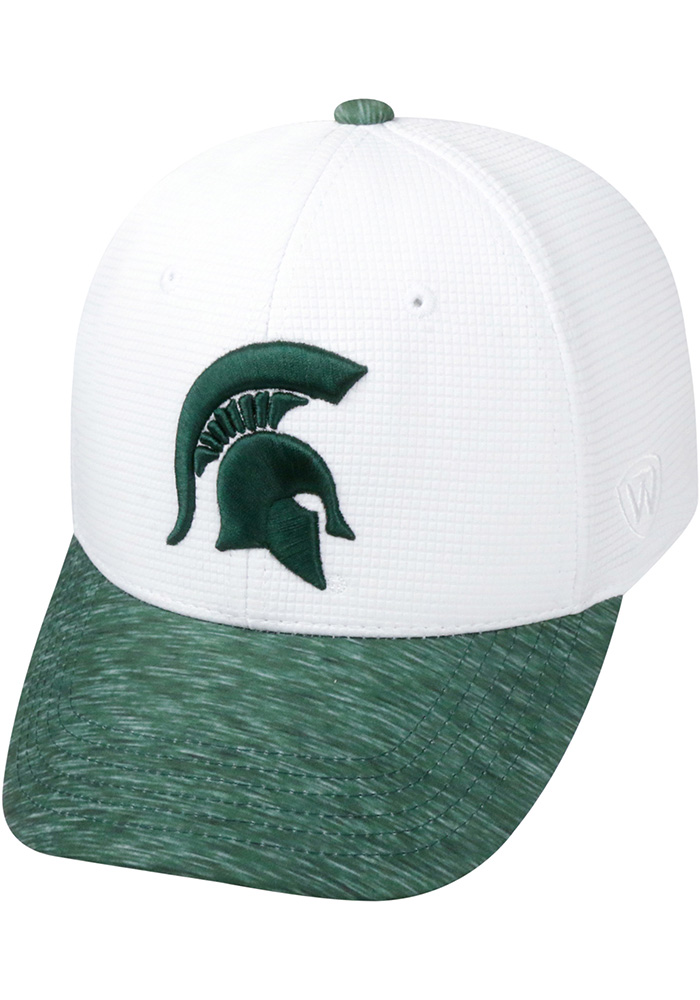 Top of the World Michigan State Spartans Mens White Booster Lightspeed Flex Hat - Image 1