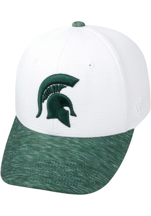 Top of the World Michigan State Spartans Mens White Booster Lightspeed Flex Hat