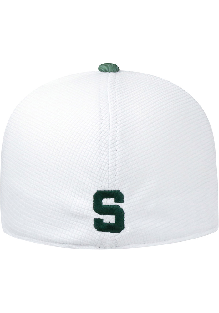 Top of the World Michigan State Spartans Mens White Booster Lightspeed Flex Hat - Image 2