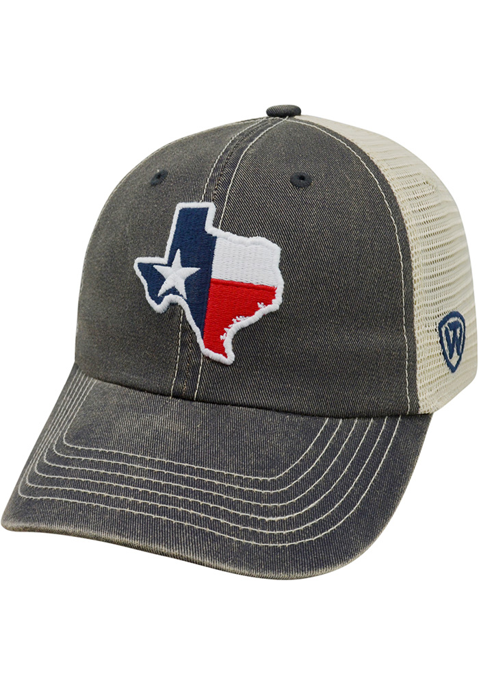Top of the World Texas Mens Navy Blue Adjustable Hat - Image 1