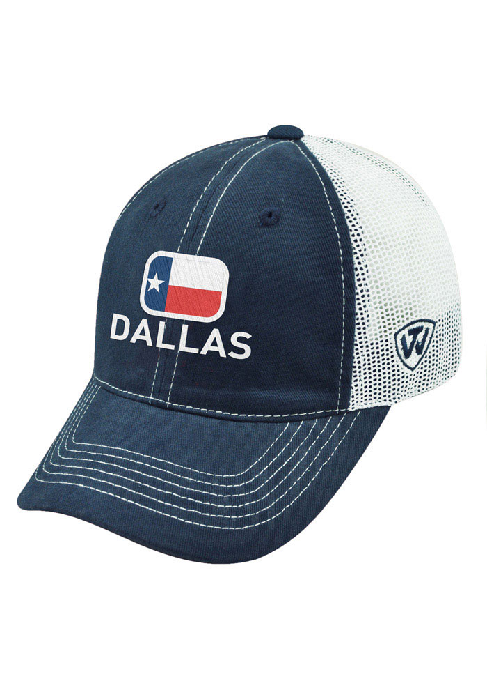 Top of the World Dallas Ft Worth High Tide Adjustable Hat - Blue - Image 1