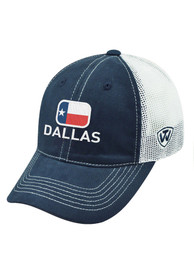 Dallas Ft Worth Top of the World High Tide Adjustable Hat - Blue
