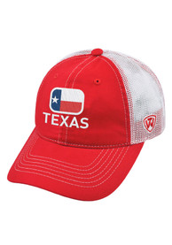 Texas Top of the World High Tide Adjustable Hat - Red